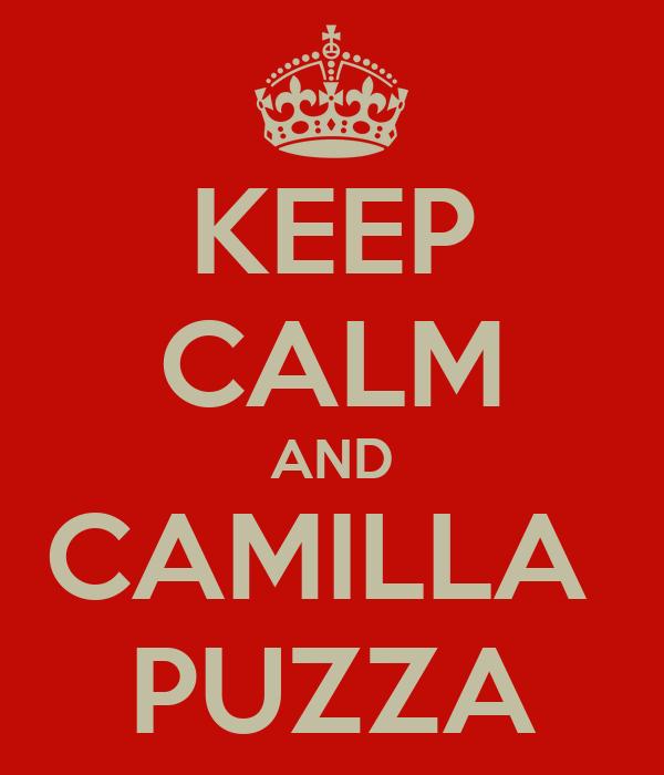 KEEP CALM AND CAMILLA  PUZZA