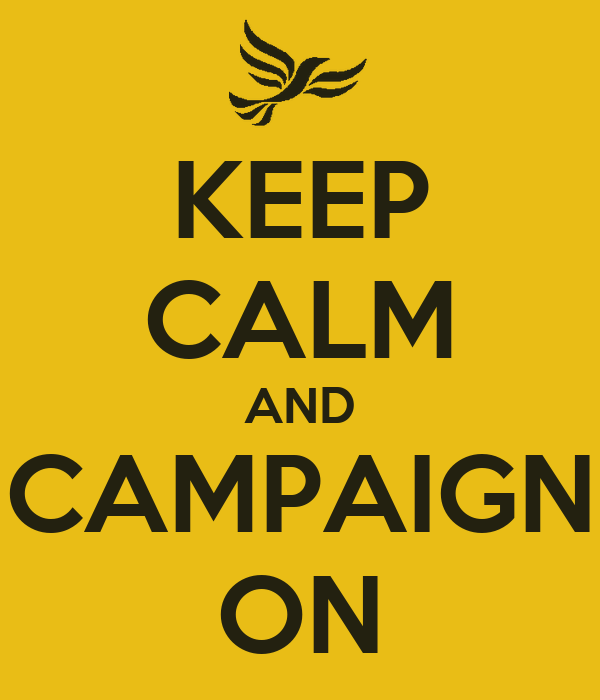KEEP CALM AND CAMPAIGN ON
