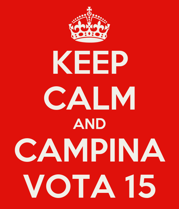 KEEP CALM AND CAMPINA VOTA 15