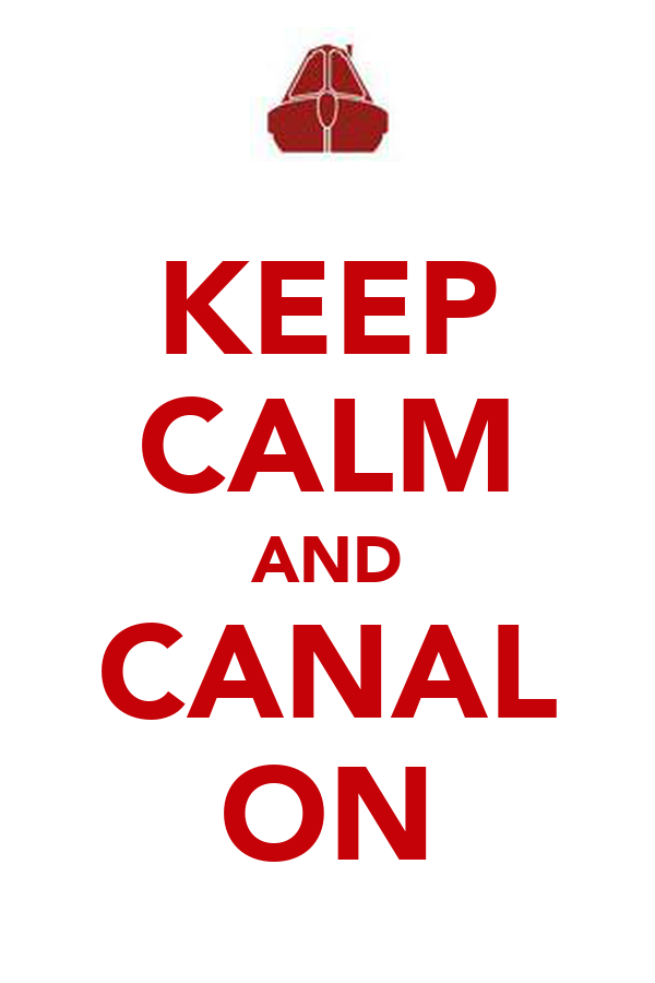 KEEP CALM AND CANAL ON
