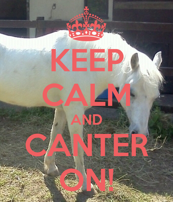 KEEP CALM AND CANTER ON!