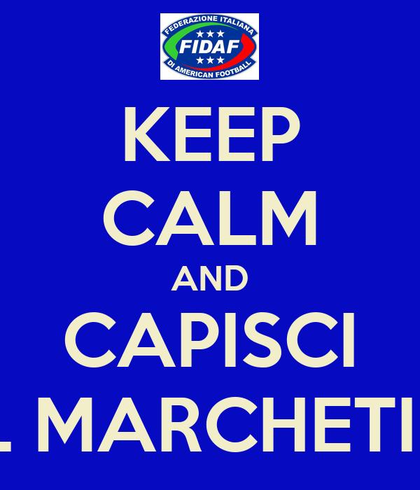 KEEP CALM AND CAPISCI IL MARCHETIN