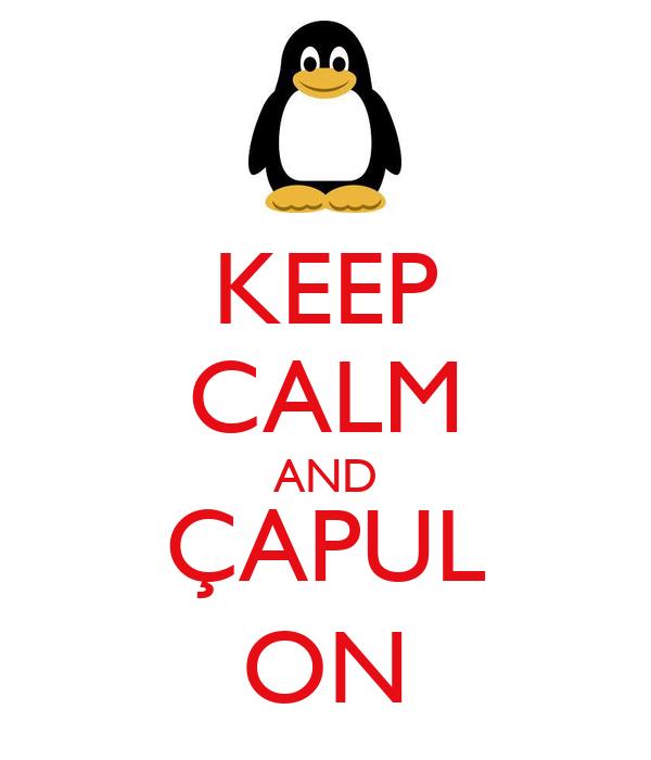 KEEP CALM AND ÇAPUL ON