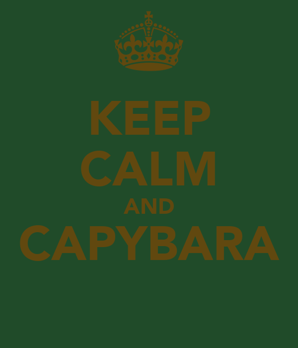 KEEP CALM AND CAPYBARA