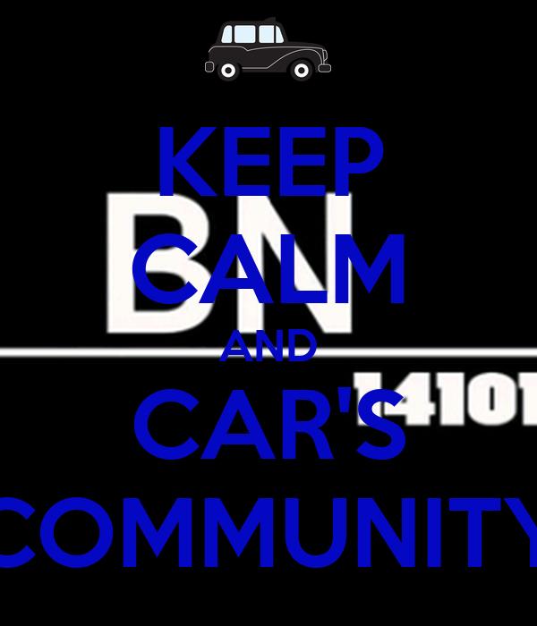 KEEP CALM AND CAR'S COMMUNITY