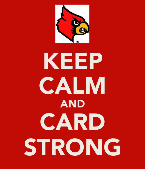 KEEP CALM AND CARD STRONG