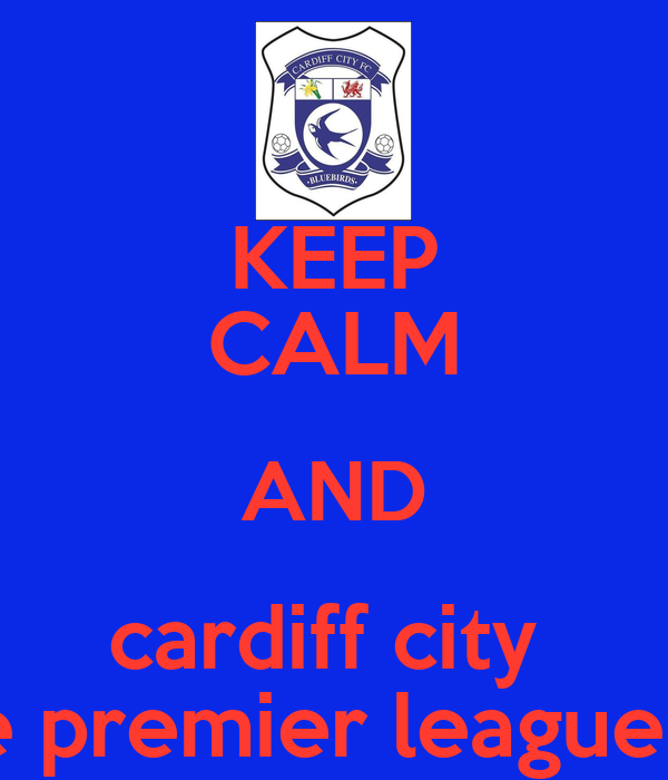 KEEP CALM AND cardiff city  will be in the premier league next season