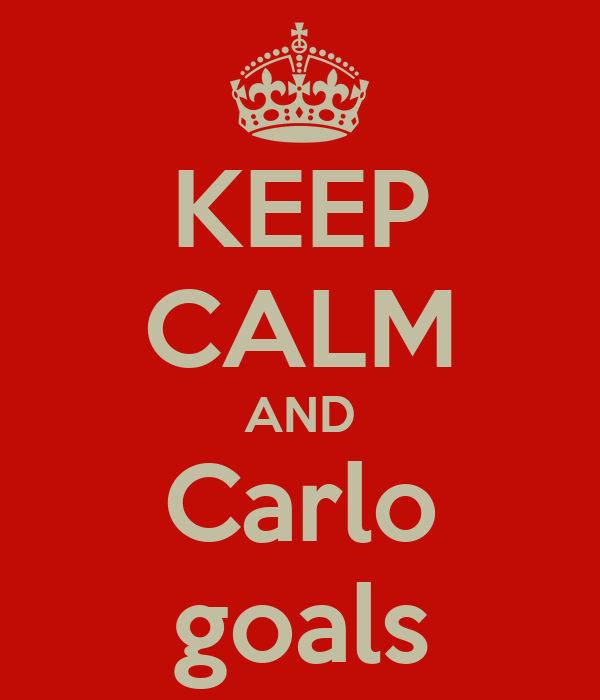 KEEP CALM AND Carlo goals