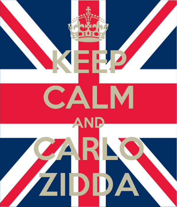 KEEP CALM AND CARLO ZIDDA