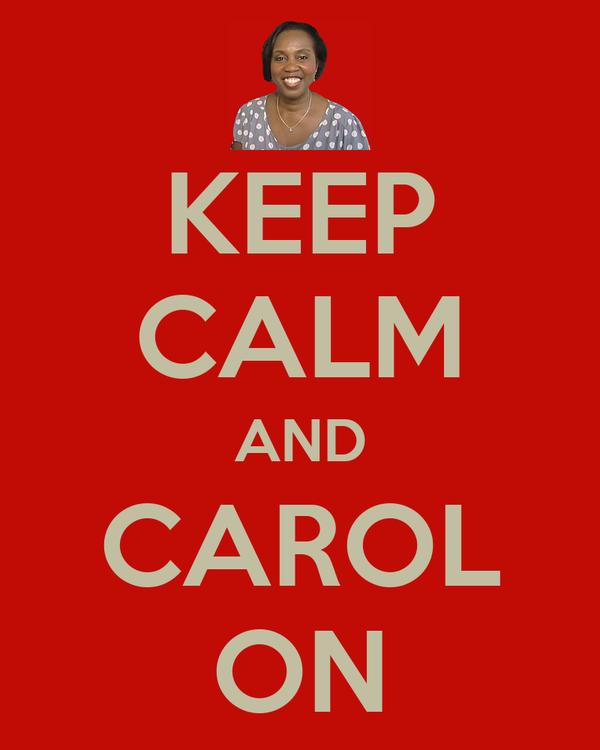 KEEP CALM AND CAROL ON
