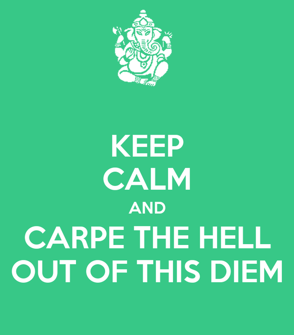 KEEP CALM AND CARPE THE HELL OUT OF THIS DIEM