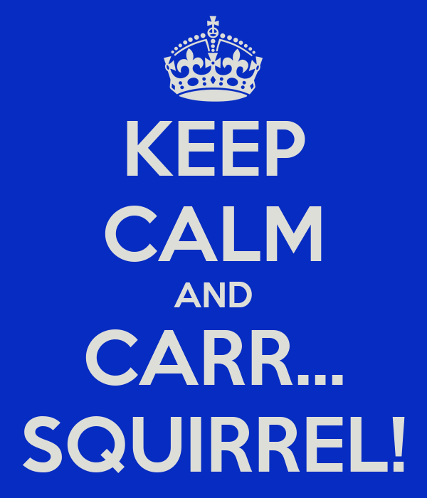 KEEP CALM AND CARR... SQUIRREL!