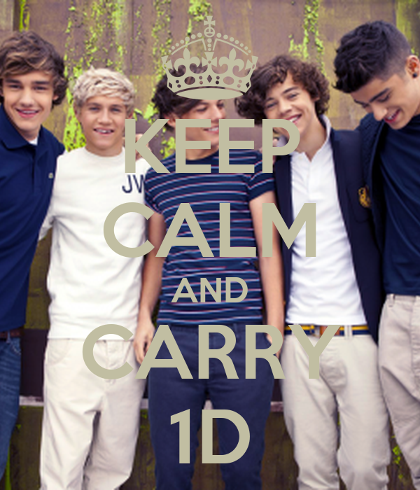 KEEP CALM AND CARRY 1D