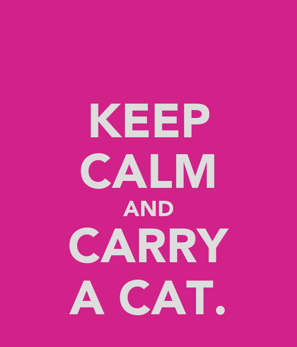 KEEP CALM AND CARRY A CAT.