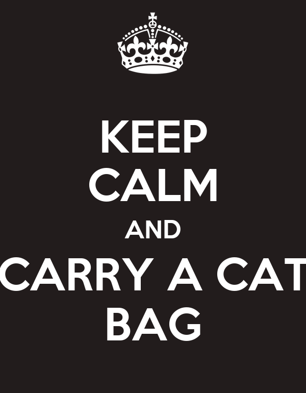 KEEP CALM AND CARRY A CAT BAG