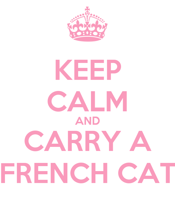 KEEP CALM AND CARRY A FRENCH CAT