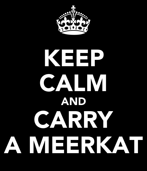 KEEP CALM AND CARRY A MEERKAT