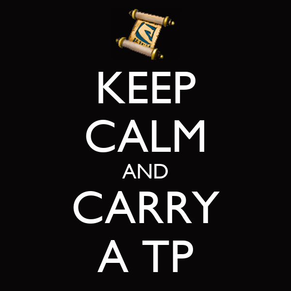 KEEP CALM AND CARRY A TP