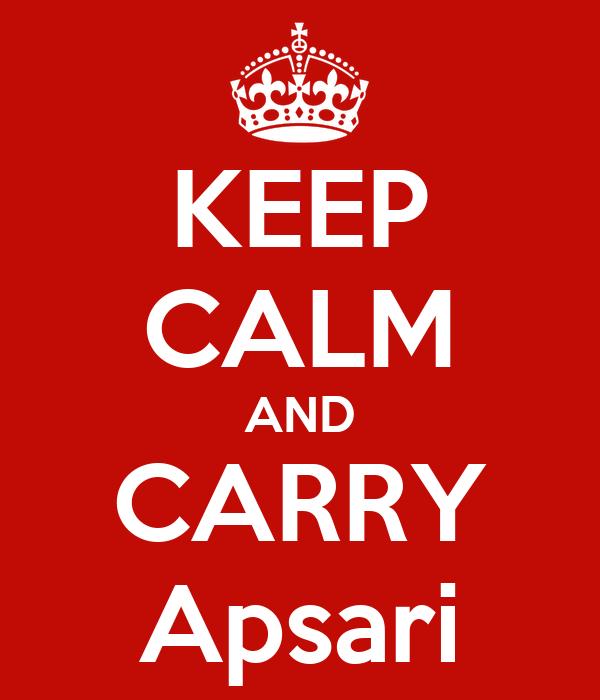 KEEP CALM AND CARRY Apsari