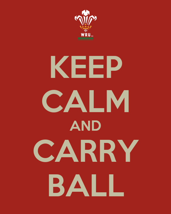 KEEP CALM AND CARRY BALL