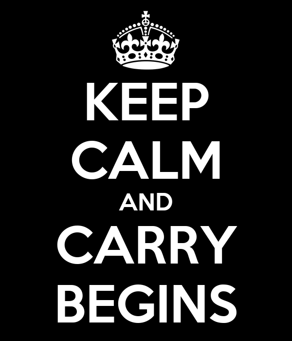 KEEP CALM AND CARRY BEGINS