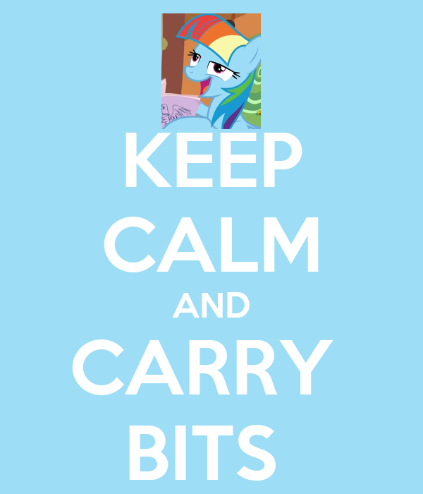 KEEP CALM AND CARRY  BITS