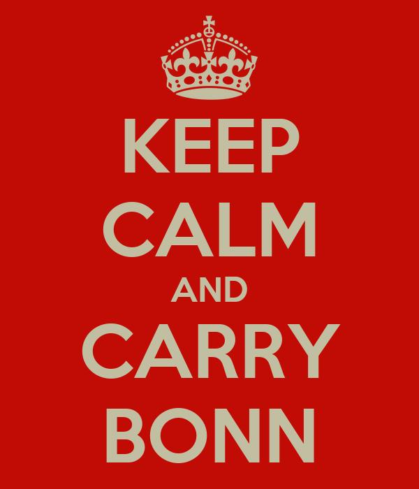 KEEP CALM AND CARRY BONN