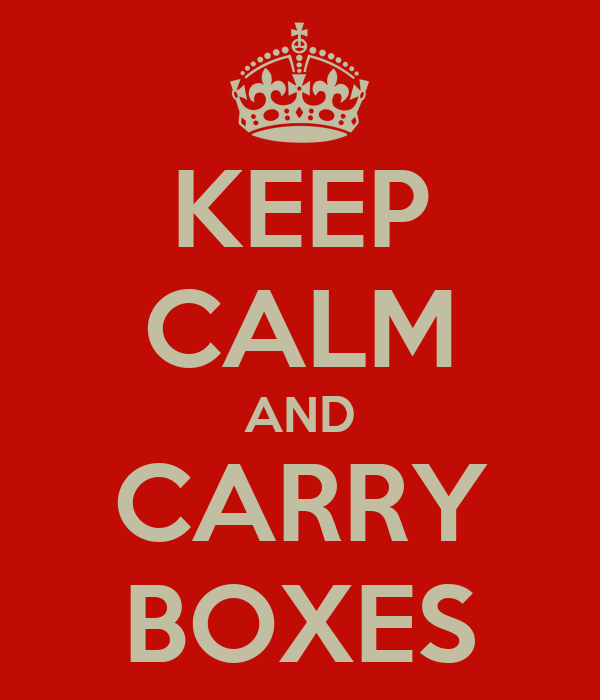 KEEP CALM AND CARRY BOXES