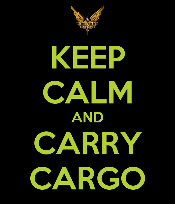 KEEP CALM AND CARRY CARGO