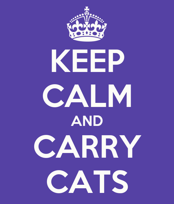 KEEP CALM AND CARRY CATS