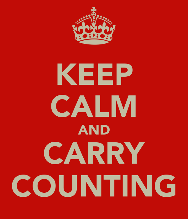 KEEP CALM AND CARRY COUNTING