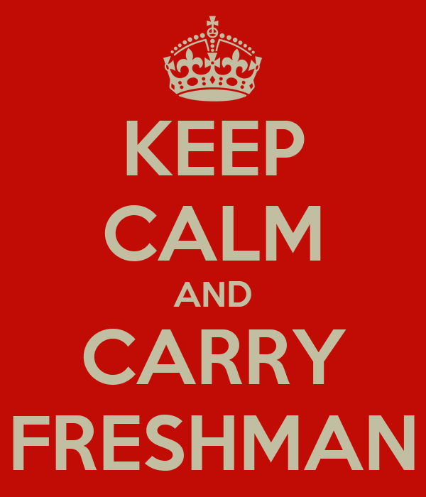 KEEP CALM AND CARRY FRESHMAN