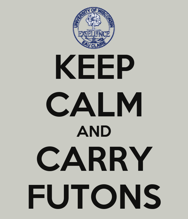KEEP CALM AND CARRY FUTONS