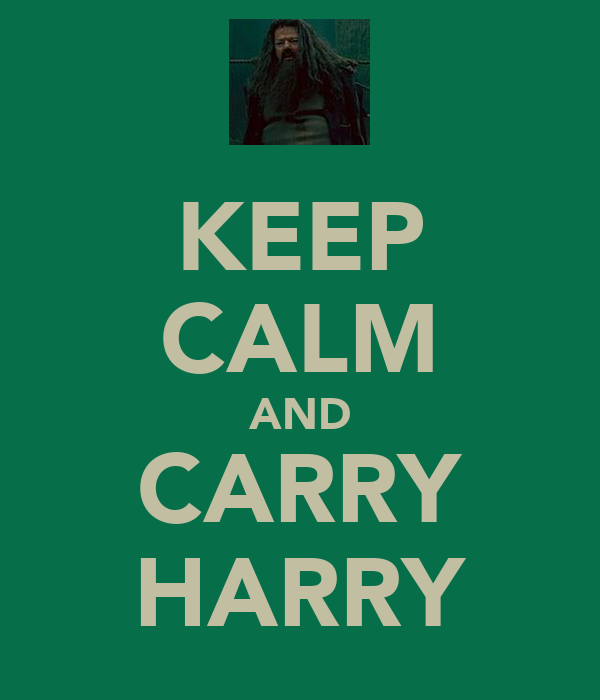 KEEP CALM AND CARRY HARRY