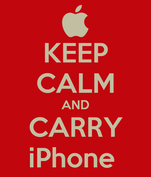 KEEP CALM AND CARRY iPhone