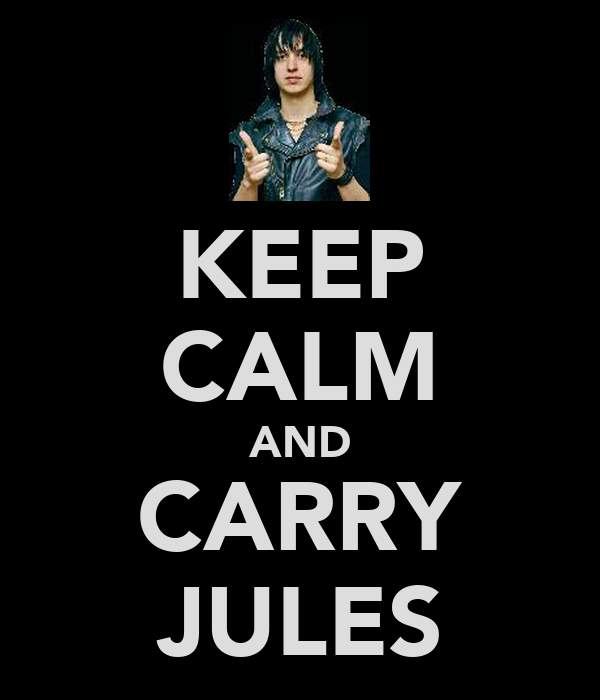 KEEP CALM AND CARRY JULES