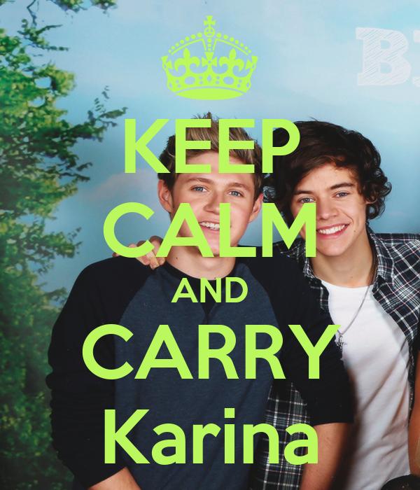 KEEP CALM AND CARRY Karina