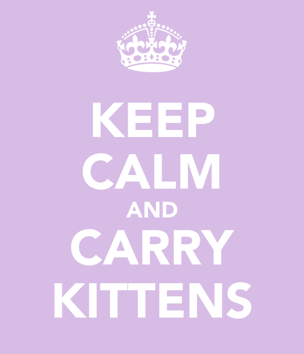 KEEP CALM AND CARRY KITTENS