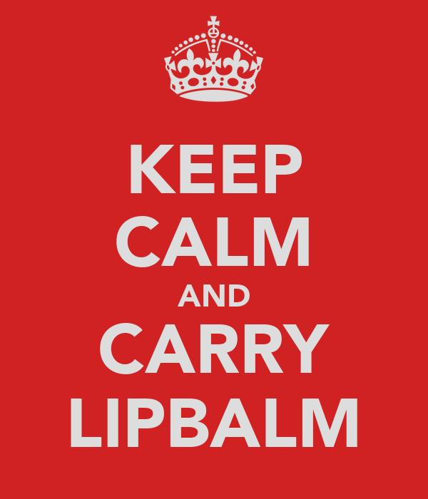 KEEP CALM AND CARRY LIPBALM