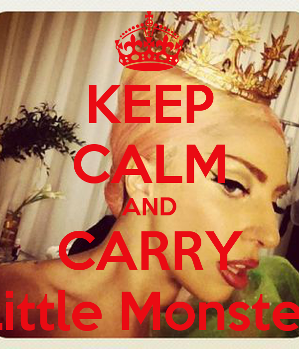 KEEP CALM AND CARRY Little Monster