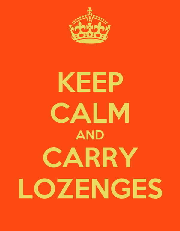 KEEP CALM AND CARRY LOZENGES