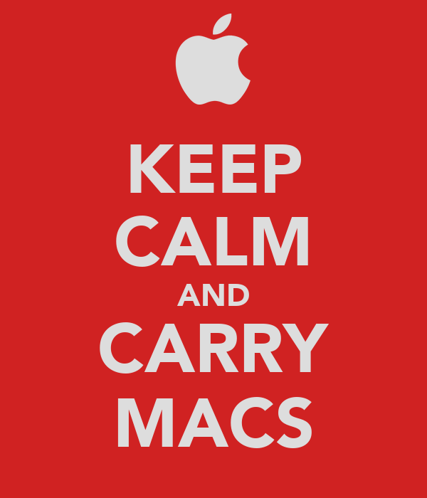 KEEP CALM AND CARRY MACS