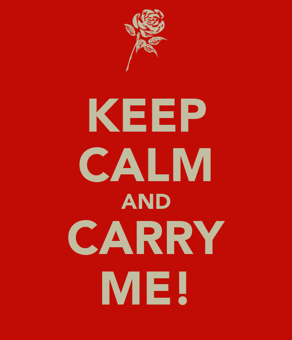 KEEP CALM AND CARRY ME!