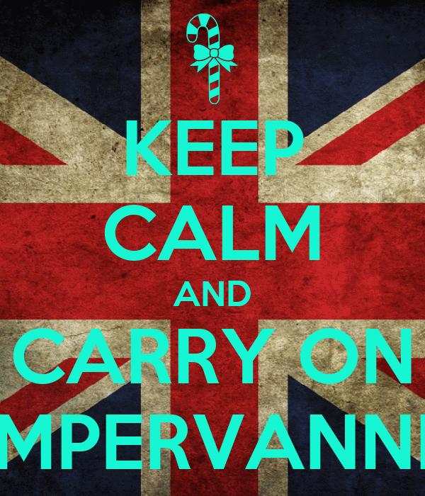 KEEP CALM AND CARRY ON CAMPERVANNING