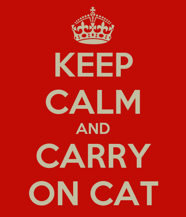 KEEP CALM AND CARRY ON CAT