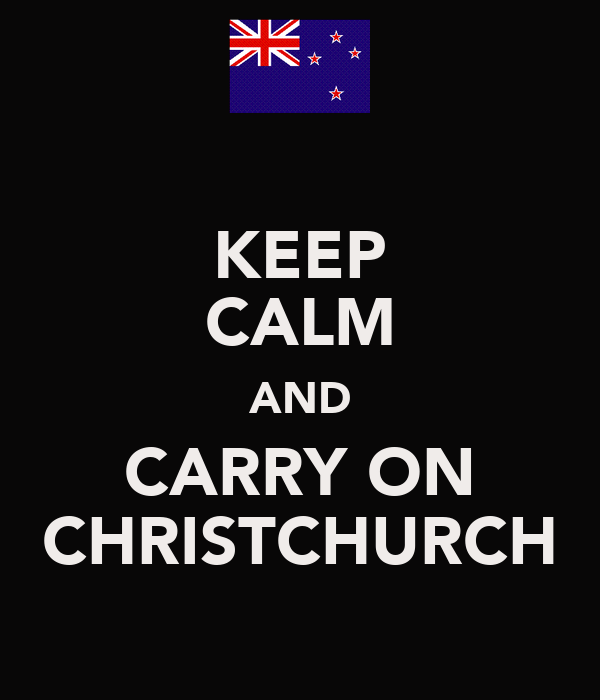 KEEP CALM AND CARRY ON CHRISTCHURCH