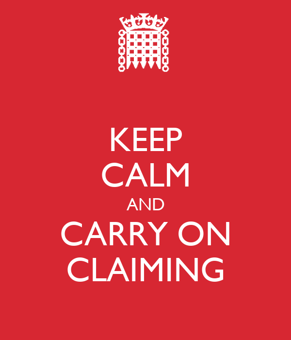 KEEP CALM AND CARRY ON CLAIMING