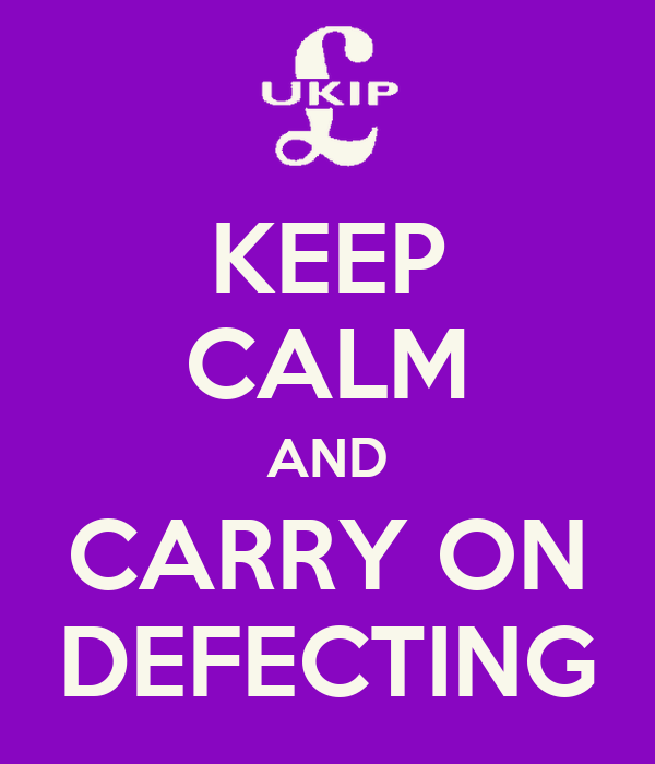 KEEP CALM AND CARRY ON DEFECTING