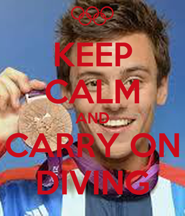 KEEP CALM AND CARRY ON DIVING