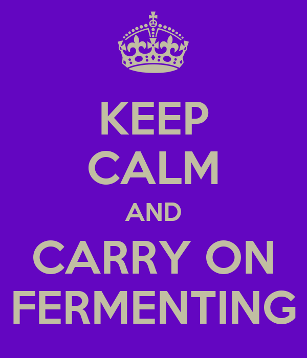 KEEP CALM AND CARRY ON FERMENTING